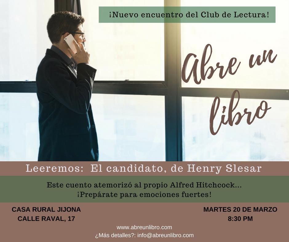 Club Lectura Abre un Libro marzo 2018