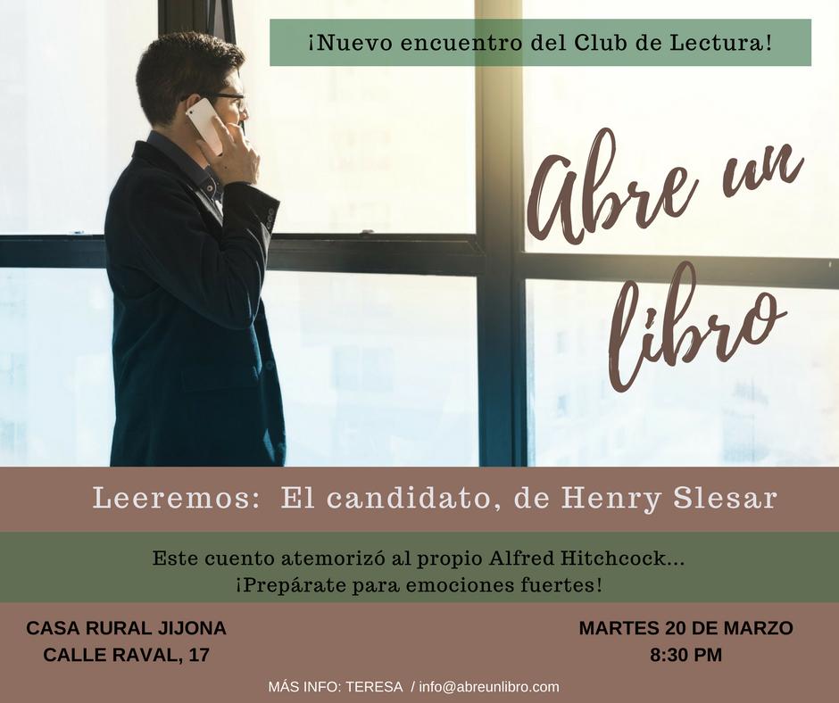 Club de Lectura marzo 2018