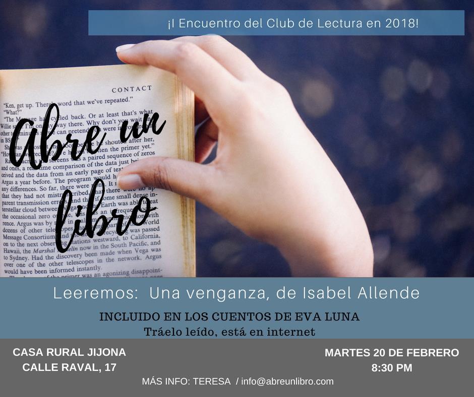 Club Lectura febrero 2018
