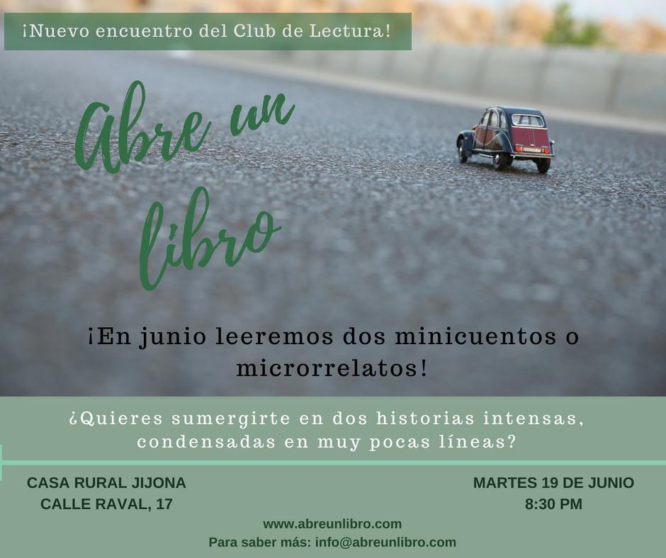 Club Lectura Abre un libro Junio 2018
