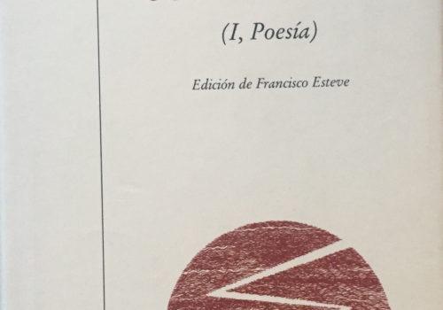Antología Comentada I Poesía