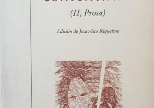 Antología Comentada II Prosa