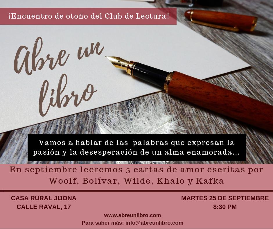 Club Lectura Septiembre 2018