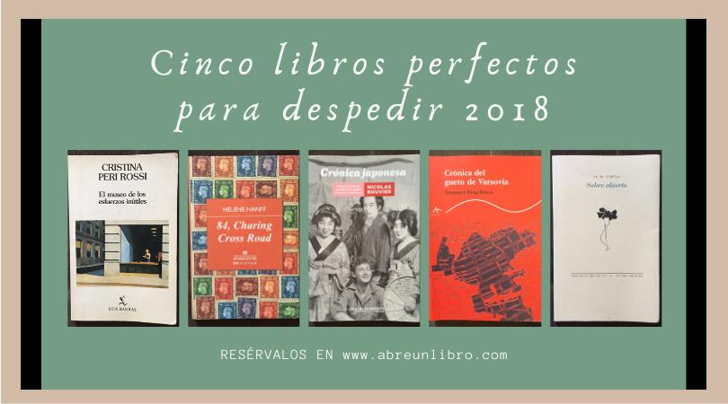 Libros para despedir 2018