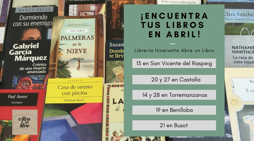 Agenda abril Abre un libro