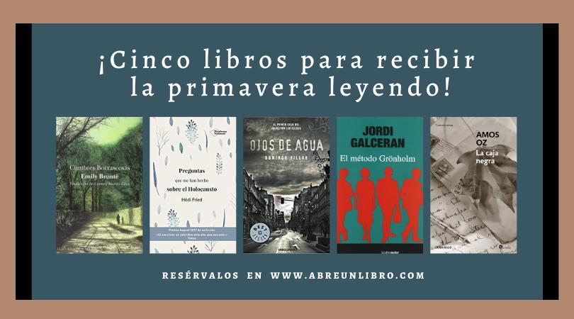 cinco libros para recibir la primavera