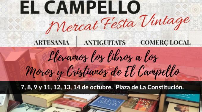 Abre Un Libro Estará En El Mercat Festa Vintage De El Campello: ¡ven A Por Tu Libro De Ocasión!