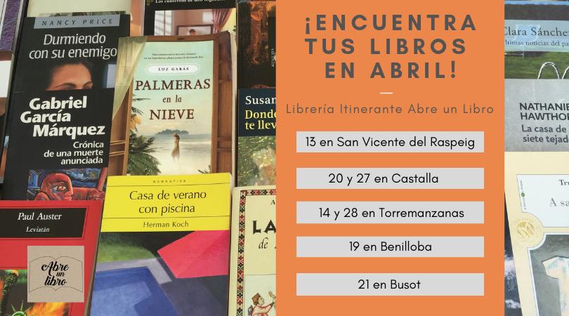 Agenda de Abre un Libro de abril: ¡celebra la primavera y el Mes del Libro leyendo con nosotros!