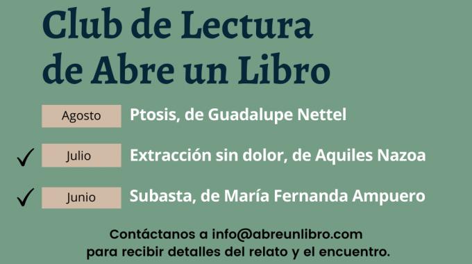 En Agosto Leeremos El Cuento «Ptosis» De Guadalupe Nettel